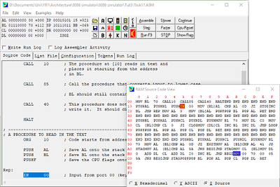 Screenshot of the program running